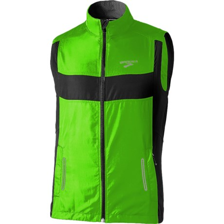 Brooks Nightlife Running Vest (For Men) in Brite Green