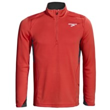 Brooks Podium II Pullover - Zip Neck, Midweight, Long Sleeve (For Men) in Power Red - Closeouts