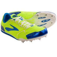 Brooks PR LD 4:10 Track Spikes (For Men) in Electric Blue/Nightlife Green/Black/White - Closeouts