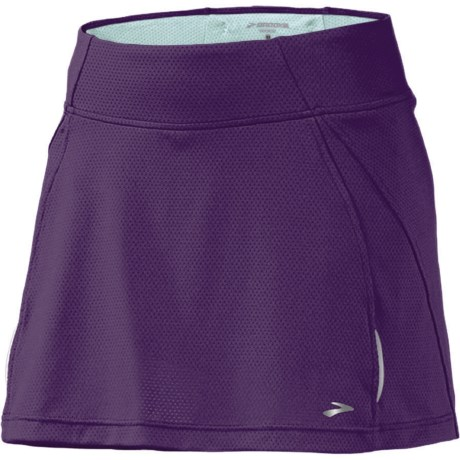 Brooks PR Mesh Skort (For Women) in Eggplant