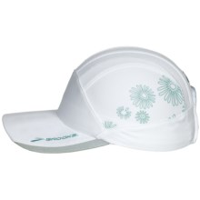 Brooks Printed Mesh Running Cap (For Men and Women) in White/Turquoise - Closeouts