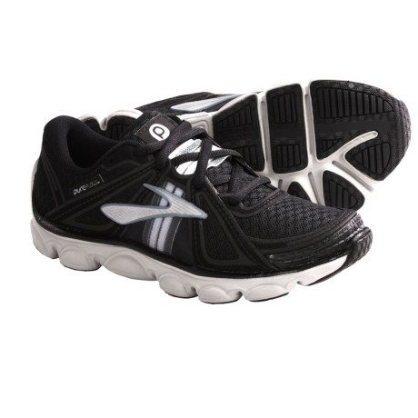 Brooks Pure Flow Running Shoes (For Kids and Youth) in Black/Pavement/Silver/White