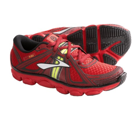 Brooks Pure Flow Running Shoes (For Kids and Youth) in High Risk Red/Cardinal/Nightlife