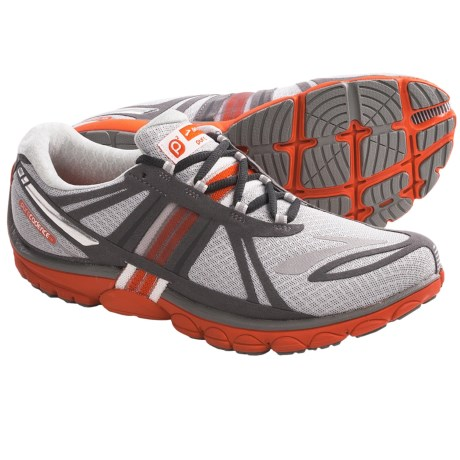Brooks PureCadence 2 Running Shoes - Minimalist (For Men) in High Risk Red/Nightlife/Silver/Black/White