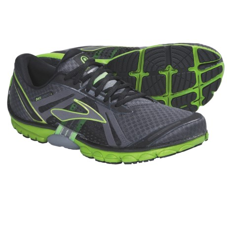 Brooks PureCadence Running Shoes - Minimalist (For Men) in Anthracite/Black/Lime Green/Pavement