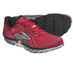 Brooks PureCadence Running Shoes - Minimalist (For Men) in Tango Red/Neon Orange/Silver/Black