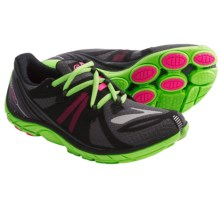 Brooks PureConnect 2 Running Shoes - Minimalist (For Women) in Anthracite/Knockout Pink/Green Gecko - Closeouts
