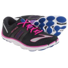 Brooks PureConnect 4 Running Shoes - Minimalist (For Women) in Black/Dazzling Blue/Pink Glo - Closeouts