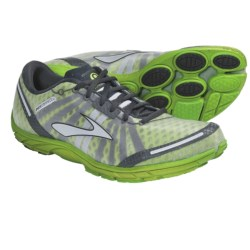 Brooks PureConnect Running Shoes - Minimalist (For Men) in Lime Green/Anthracite/Black/Metallic Silver