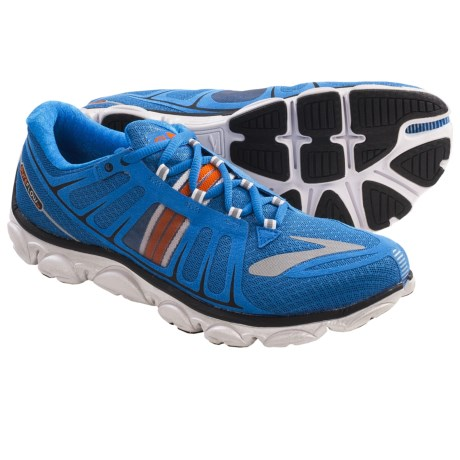 Brooks PureFlow 2 Running Shoes - Minimalist (For Men) in Skydiver/Orangeade/Silver/Black/White