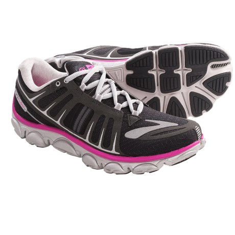 Brooks PureFlow 2 Running Shoes - Minimalist (For Women) in Asphalt/Microchip/Neon Magenta