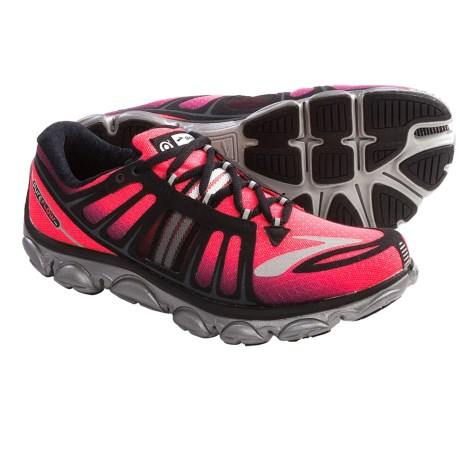 Brooks PureFlow 2 Running Shoes - Minimalist (For Women) in Diva Pink/Black/Anthracite/Silver/White