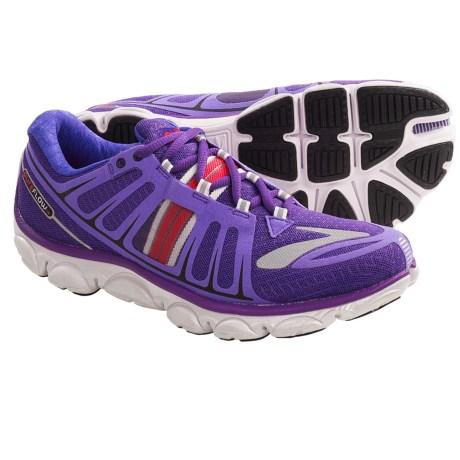 Brooks PureFlow 2 Running Shoes - Minimalist (For Women) in Royal Purple/Hibiscus/Black/Silver/White