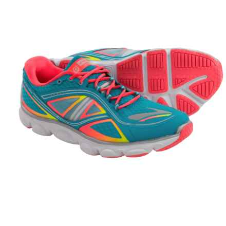 Brooks Pureflow 3 Running Shoes (For Big Kids) in Atomic Blue/Fierycoral/Nightlife - Closeouts