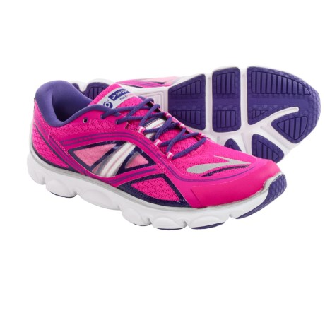 Brooks Pureflow 3 Running Shoes (For Big Kids) in Pink Glo/Ultraviolet/White