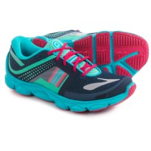 Brooks Pureflow 4 Running Shoes (For Little and Big Girls) in Peacoat/Electricgreen/Hawaiianocean - Closeouts