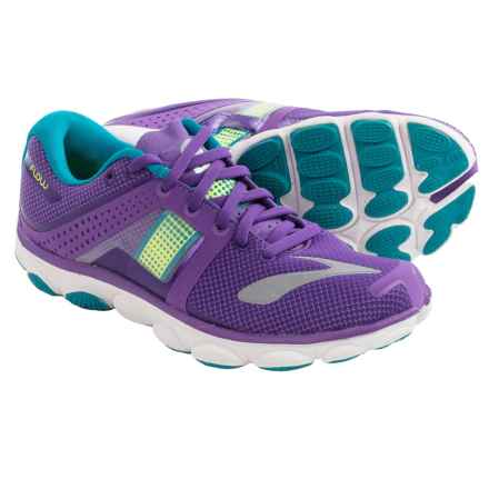 Brooks Pureflow 4 Running Shoes (For Women) in Electric Purple/Nightlife/Peacock - Closeouts