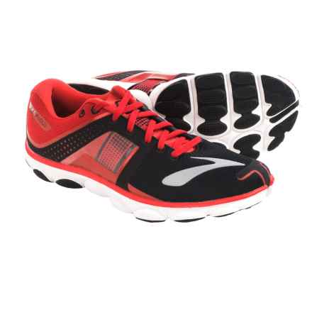 Brooks Pureflow 4 Running Shoes - Minimalist (For Men) in High Risk Red/Black/White - Closeouts
