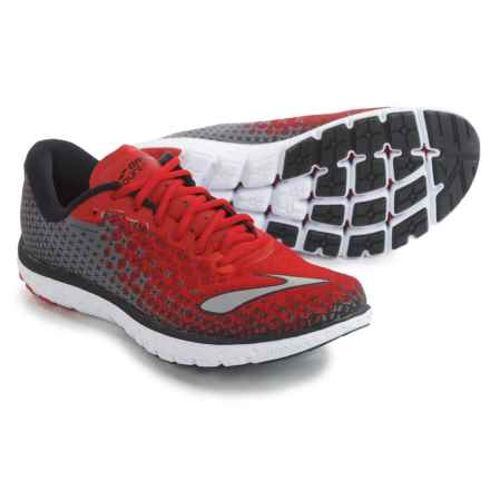 Brooks PureFlow 5 Running Shoes (For Men) in High Risk Red/Black/Silver - Closeouts