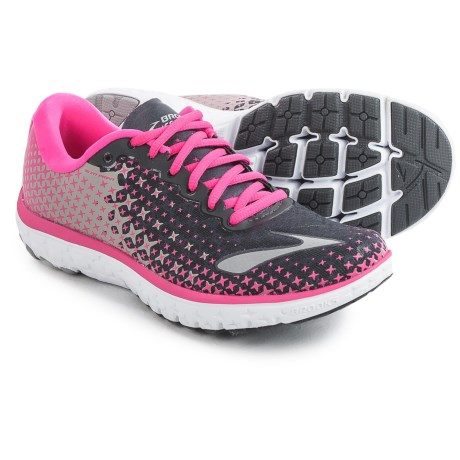 Brooks PureFlow 5 Running Shoes (For Women) in Anthracite/Pink Glow/Alloy