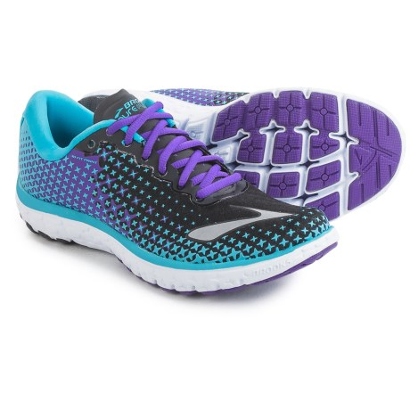 Brooks PureFlow 5 Running Shoes (For Women) in Bluefish/Black/Electric Purple