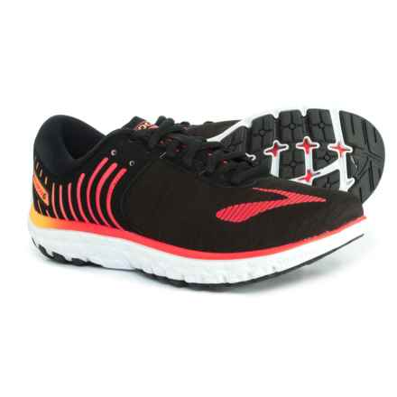Brooks PureFlow 6 Running Shoes (For Women) in Black/Diva Pink/Orange Pop - Closeouts