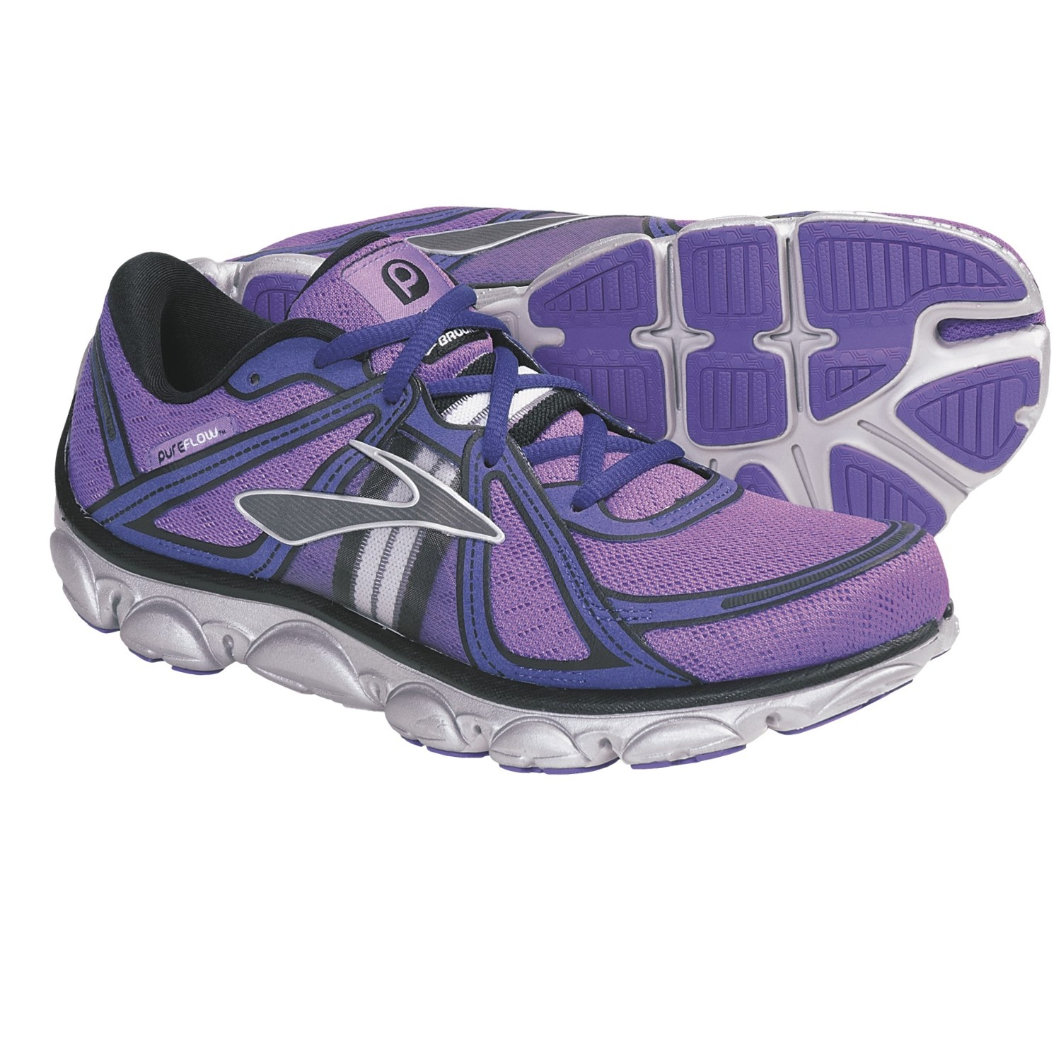 Brooks PureFlow Running Shoes (For Women) in Neon Purple/Neon Blue