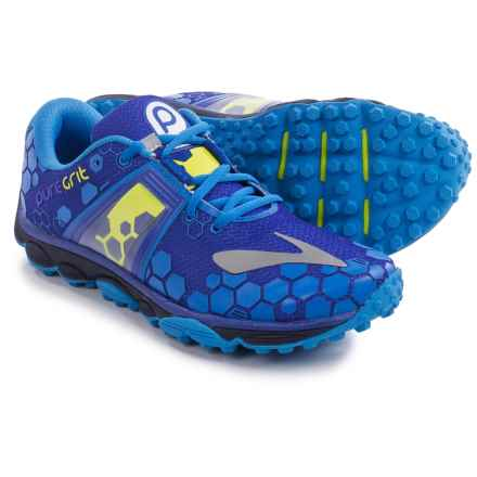 Brooks PureGrit 4 Trail Running Shoes (For Men) in Surf The Web/Brilliant Blue/Lime Punch - Closeouts