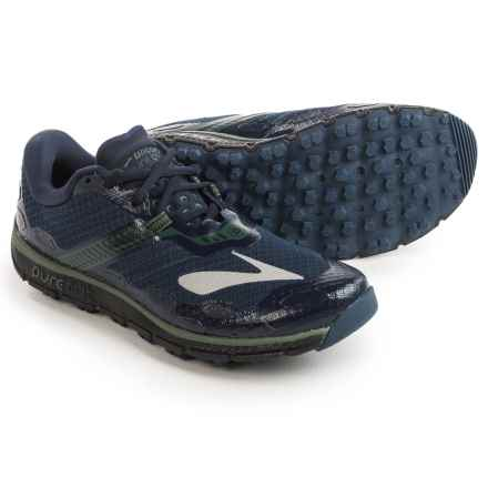 Brooks PureGrit 5 Trail Running Shoes (For Men) in Dress Blues/Duck Green/Black - Closeouts