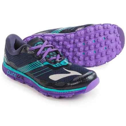 Brooks PureGrit 5 Trail Running Shoes (For Women) in Peacoat/Passionflower/Ceramic - Closeouts