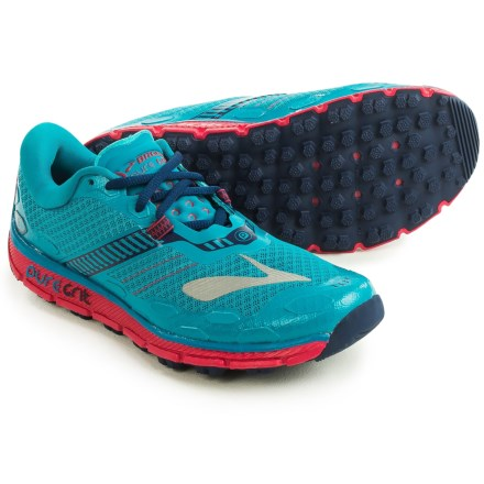 3349a1ae62b Brooks PureGrit 5 Trail Running Shoes (For Women) in Peacock Blue Virtual  Pink