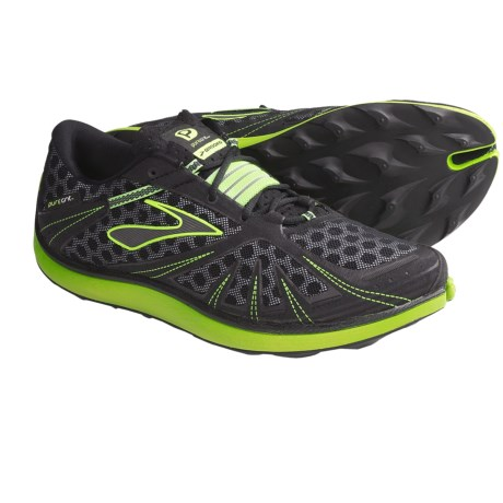 Brooks PureGrit Trail Running Shoes - Minimalist (For Men) in Nightlife/Black/Pavement