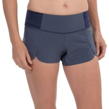 "Brooks PureProject 2-in-1 Shorts - 3.5"", Built-In Briefs (For Women) in Heather Midnight - Closeouts"