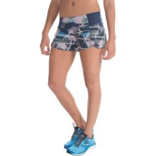 "Brooks PureProject 2-in-1 Shorts - 3.5"", Built-In Briefs (For Women) in Midnight Watercolor - Closeouts"