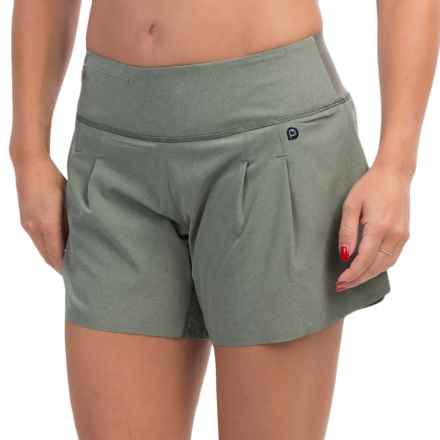 "Brooks PureProject 2-in-1 Shorts - 5"", Built-In Shorts (For Women) in Heather Sage - Closeouts"