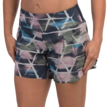 """Brooks PureProject 2-in-1 Shorts - 5"""", Built-In Shorts (For Women) in Midnight Watercolor - Closeouts"""