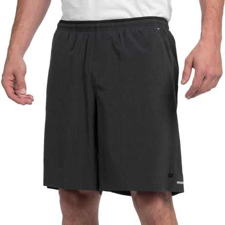 Brooks PureProject 9 Running Shorts - Built-In Briefs (For Men) in Heather Black
