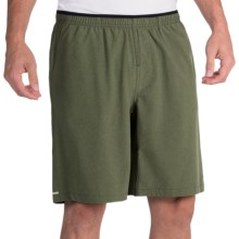 "Brooks PureProject 9"" Running Shorts - Built-In Briefs (For Men) in Heather Olive - Closeouts"