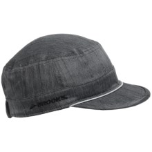 Brooks PureProject Cadet Hat (For Men and Women) in Black/Heather Black - Closeouts