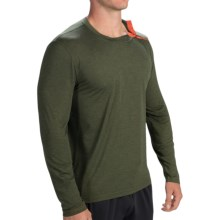 Brooks PureProject Henley Shirt - Long Sleeve (For Men) in Heather Olive - Closeouts
