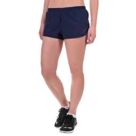 """Brooks Racey 2"""" Shorts - Built-In Briefs (For Women) in Navy - Closeouts"""