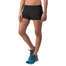 "Brooks Racey 2.5"" Split Shorts (For Women) in Black - Closeouts"