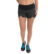 "Brooks Racey 3.5"" Shorts (For Women) in Heather Black - Closeouts"