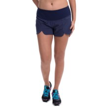 "Brooks Racey 3.5"" Shorts (For Women) in Heather Navy - Closeouts"