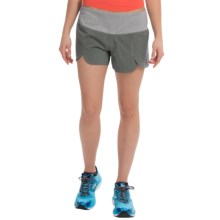 "Brooks Racey 3.5"" Shorts (For Women) in Heather Oxford - Closeouts"