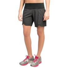"Brooks Racey 7"" Shorts (For Women) in Heather Black - Closeouts"