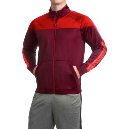 Brooks Rally Running Jacket (For Men) in Root/Lava - Closeouts