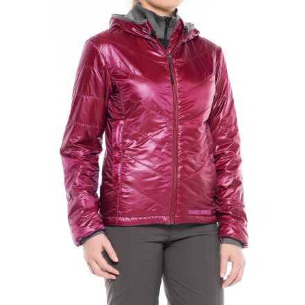 Brooks-Range Mountaineering Azara Hooded PrimaLoft® Jacket - Insulated (For Women) in Red Plum - Closeouts
