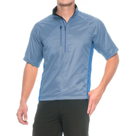 Brooks-Range Mountaineering Brisa T Polartec® Power Dry® Shirt - Short Sleeve (For Men) in Dark Blue/Smoke