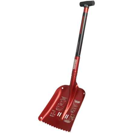 Brooks-Range Pro Sharktooth Shovel - T-Handle in Red - Closeouts